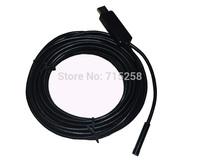 7mm Lens Mini USB Endoscope 6 LED  Waterproof Video Camera Endoscope 5M