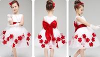 2015 new children dress princess dress girls dresses flower girl child in autumn and winter wedding dress white tutu