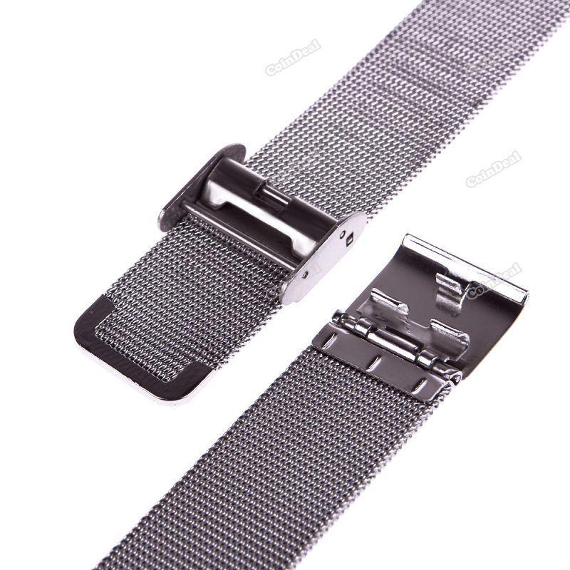Mais novo coindeal novo clássico relógio do aço inoxidável pulseiras de malha cinta banda artesanato perfeito preço inferior!(China (Mainland))