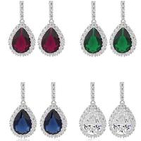 Teemi jewelry fine vintage cz crystal luxurious waterdrop dangle earring 2015 women trendy diner accessories