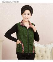 new winter quinquagenarian vest trun down collar printing zip casual outdoor coat waistcoat jacket 3color XL-4XL