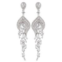 2014 Luxury Full of Swiss Cubic Zircon Earrings European CZ Earrings For Women Wedding Gift Jewelry