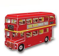 Cubic  Fun 3d puzzle children London double-decker bus creative gift intellectual toys
