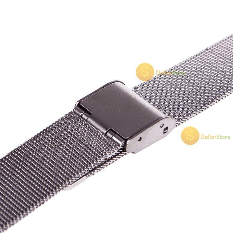 dollarstore comprável novo relógio do aço inoxidável pulseiras de malha cinta banda excelente artesanato perfeito novo(China (Mainland))