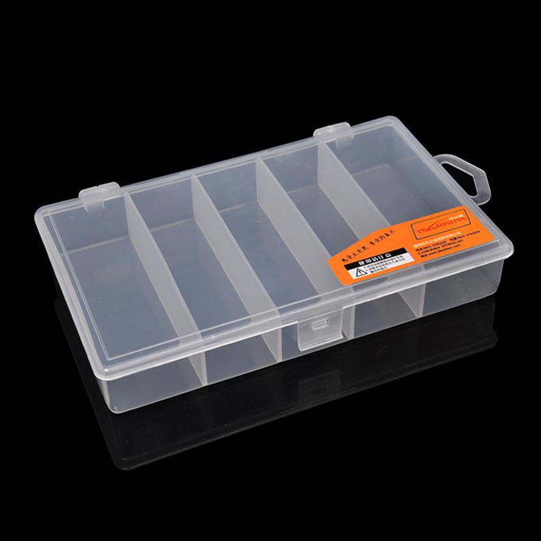 5 Compartments Carp Fishing Accessories Box Portable Dedicated Fishing Tackle Mini Storage Boxes Transparent Plastic Lures Box(China (Mainland))