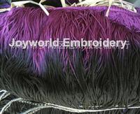 23cm long Bright Rayon trimming Tassel fringe loop bottom lace Gradient color Purple black 23cm