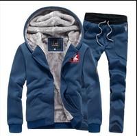 HOT SALE 2014 Winter new cashmere sweater tide male thick warm winter clothes men's sports clothes set Coats Jackets hoodies men