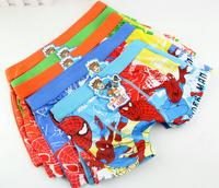 Spiderman Boys Boxers Cartoon Kids Panties Children Briefs Boy Underwear New 2014Short Pants 6pcs/Lot Cueca Infantil MeninoKA030