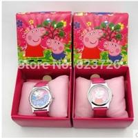 Watch For Girls Peppa pig Watches Pepa pig Set Christmas Gift Best Birthday Present For Kids Children Wristwatch zt134