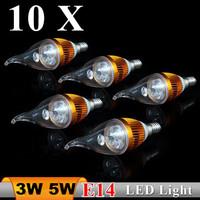 10X Christmas led candle light 3w 5w e14 lamp tubes Warm White led bulb 110v 220v free shipping