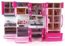 Kawaii Hello Kitty Girl Kids Multifunctional Kitchen Toys Set Children Brinquedos Meninas Gilr Dollhouse Furniture(China (Mainland))