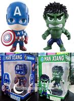 The Avengers Movie Super Hero Hulk Captain America cute Action Figure