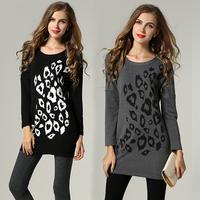 Plus Size Dress Pattern Print Long Sleeve Dresses Women Vestidos #SN1192