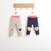 Hu sunshine wholesale new 2014 Fashion girls love thick cotton leggings kids leggings