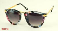2014 the new fashion Round frame brand designer women sunglasses Leopard Sun glasses oculos de sol Glasses GL-5275