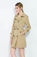 Hot Classic 2014 Autumn Winder Lady Fashion coat  British Long Style Elegant Trench Coat/Designer Belted women Trench