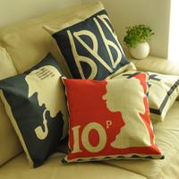 British style brief fashion modern cushion cover fluid nap pillow kaozhen