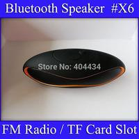 X6 wireless bluetooth Speaker TF card slot FM Radio Built-in Mic Hands-free Portable Mp3 Mini Subwoofer bluetooth speaker 10pcs