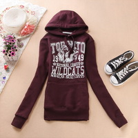 Autumn women's with a hood pullover sweatshirt slim casual sweatshirt outerwear unisex lovers paragraph