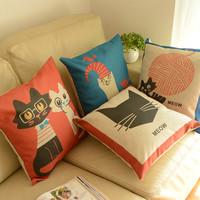 Personalized pillow nap pillow brief cartoon cat fluid sofa cushion modern home pillow