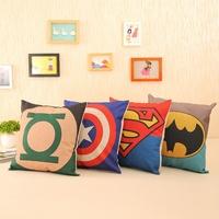 Super man fluid pillow cushion set sofa cushion lumbar pillow