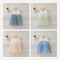 Hu sunshine wholesale new 2014 fashion Summer girls cotton lace mesh gauze vest dress factory outlets WW11272600H