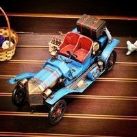 Fashion vintage metal classic cars model metal craft home decoration