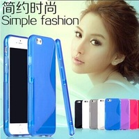For iphone 6 plus case Ultra Thin Luminous Transparent Crystal Clear Hard TPU Case Cover