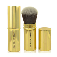 Free shipping high quality gold color blusher makeup brush beauty cosmetic brush