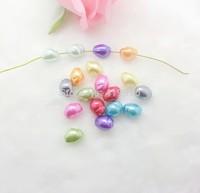 Free shipping-200PCs Random Mixed Pearl Imitation Acrylic Oval Shape Beads 13x10mm D2634