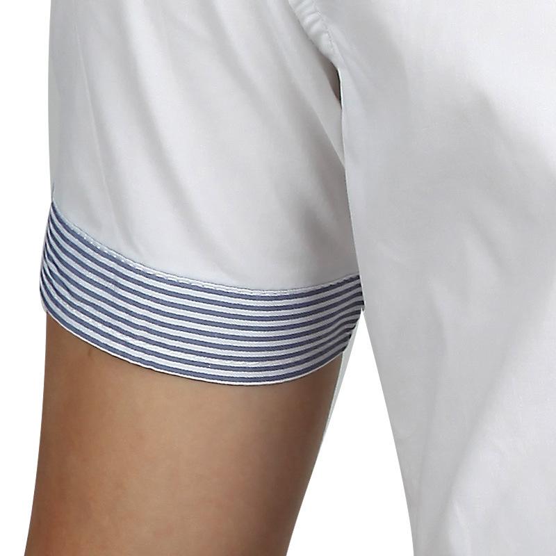 2015 Brand Men Shirts Short Sleeve Dress Men Fashion Quality Designer Patchwork Casual Camisa Slim Fit
