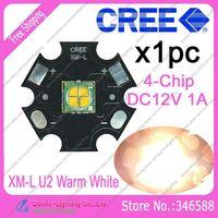 Cree Easywhite XML XM-L U2 4Chip Warm White 3000K-3500K DC12V 1A 10W High Power LED Emitter Bead d on 20mm Star Platine Heatsink