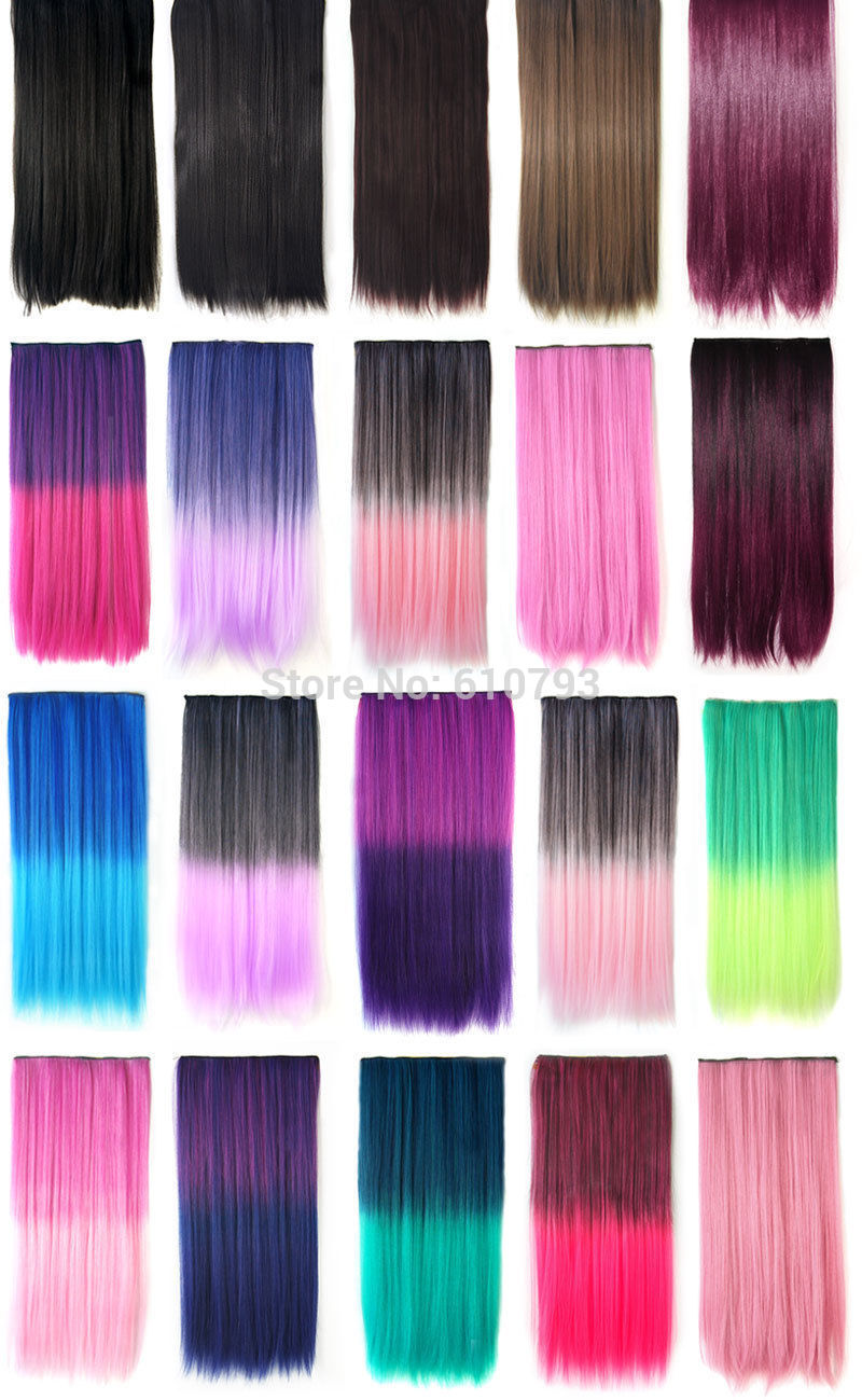 2015 New Fashion Curly 3/4 Full Head Clip in Hair Extensions One Piece 5 Clips A2 Christmastwo design Multi-color(China (Mainland))