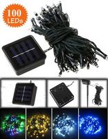 100led holiday string light LED solar fairy light outdoor chrismas decoration lights Free shipping