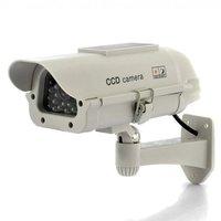 Solar Power Indoor/Outdoor Professional Design Dummy IR LED Light Security Surveillance Home/Shop CCTV Fake Camera