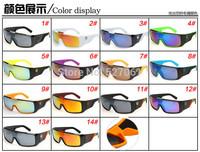 Hot Pop European American Fashion 14 Colors Wayfarer Goggles Outdoor Cycling Windproof UV400 Sport Sunglasses