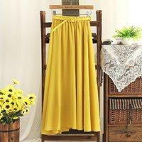 hot selling  nice new arrival casual sweet chiffon skirt skirts wild thin dress chiffon dress with belt