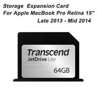 "95MB/s Transcend JetDrive Lite 360 64GB Memroy Card Storage Expansion Card For Apple MacBook Pro Retina 15"" Late 2013 - Mid 2014"