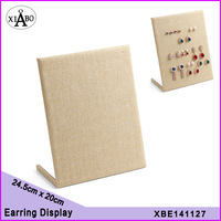 wholesale free shipping 4PC/lot burlap earring display stand jewelry hanger