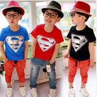 1 x Little boy or girl's shirt for 3-8 years old Thin section children clothing children Superman Diamond Boys T shirt