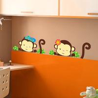 ZY1210 copyright  new cartoon monkey notebook stickers cartoon wholesale trade custom wall stickers for children