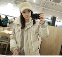 Winter 2014 Women short design thickening thermal faux two piece slim down coat down outerwear