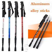 """Adjustable Anti Shock Trekking Hiking Walking Stick Pole 65cm-135cm/ 26 """" to 53 """" with Walking mountaineering"""