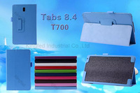 150 pcs/lot for Samsung Galaxy Tab TabS 8.4  T700 PU Leather Flip Reversal Stand Case Cover with Multi-Angle Stand