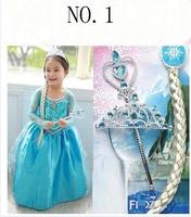 Girl Aisha princess dress the children's show luxury Frozen  Dress Holiday Halloween party Cosplay costume