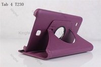 150pcs/Lot for Samsung Galaxy Tab 4 T230 360 Degrees Rotating Rotation Protective PU Leather Case with Stand