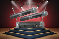 Free shipping handheld PGX242 /PG4 Stage Performance dual Wireless Microphone System PG4