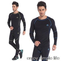 2015 New Arrival Men's Outdoor Sports chothes Thermal Underwear Sets Polartec+Lycra Long Johns M, L, XL, XXL Drop Shipping