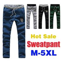 High quality Men's Sweat Pants Training Fleece Jogging Long Trousers Casual Athletic Hip Hop Sweatpants Plus Size M-5XL