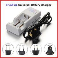 ( 10 pcs/lot ) TrustFire TR-001 Dual 18650 Battery Charger UK Plug For 16340 14500 18500 18650 Li-ion Battery Wholesale